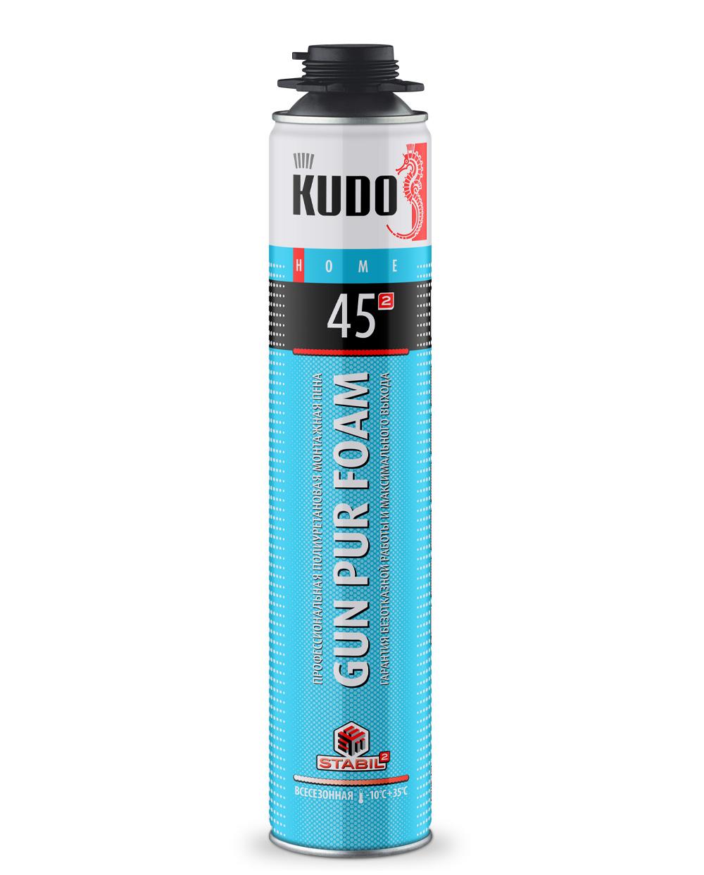 Пена полиуретановая монтажная профессиональная всесезонная KUDO HOME 45 KUPHP10U45