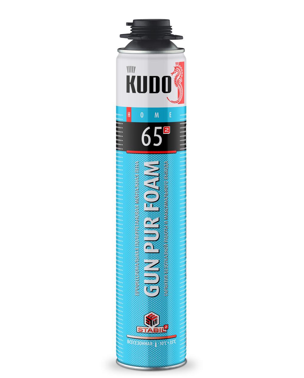Пена монтажная профессиональная всесезонная KUDO HOME 65 KUPHP10U65