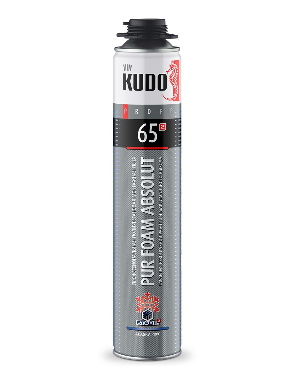 Пена монтажная профессиональная зимняя KUDO PROFF 65 ALASKA KUPP10W65